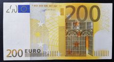 Europen Union - Italy - 200 Euro 2002 - Duisenberg - without HOLOGRAM  -  ERROR  note