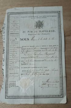 Passport from Napoleonic era - 1811