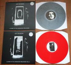 Joy Division- lot of 2 special collector's editions: Closer To The Unknown Treasures Vol. 1 (69 copies only, nr. 33/69, grey wax) & Vol. 2 (95 copies only, nr. 43/95, red wax)