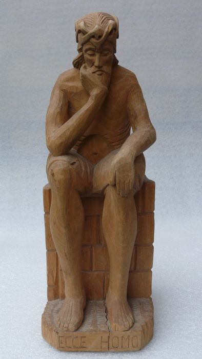 Wooden figure of Christ - Ecce Homo  - Polen - 1978
