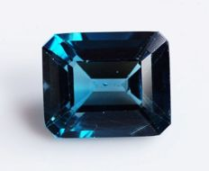 Topaz - London Blue - 8.57 ct