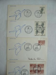 Groenland 1977-1995 – Collection of 1st day envelopes – including a few signed by the drawer
