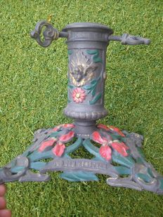 Antique Christmas tree holder/stand from 1910