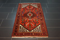 Old Persian carpet, Malayer Hamadan, 90 x 155 cm, natural colours, made in Iran