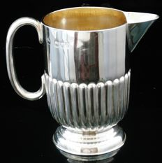 Semi Fluted Silver Cream Jug, London 1894, William Hutton & Sons Ltd