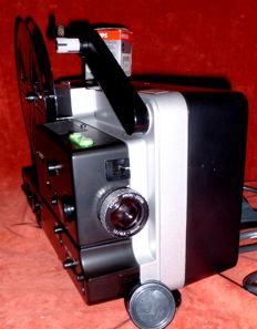 "Vintage movie projector ""Porst-FP 22', Super 8 + normal 8 infinitely variable for video transfer, with 1 spool + cable, around 1960"