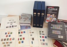 The Netherlands - Collection of stamp booklets, 12 year sets, stamps and literature.