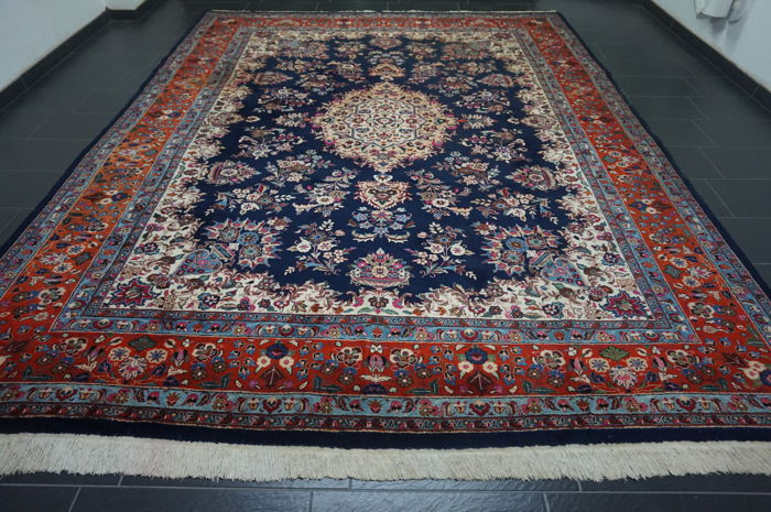 Magnificent Persian palace carpet vases pictures Kashmar 300x390 cm Made in Iran