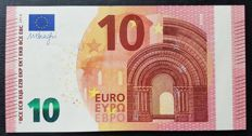 Europen Union - Ireland (T) - 10 Euro 2014 - Dragi- ERROR note white stripe  without HOLOGRAM -