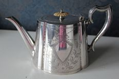 Silver plated tea pot, Henry Wilkinson & Co Ltd 1872-1892- United Kingdom - ca 1880