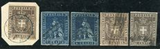 Tuscany, 1857–1860 – Lot of 5 stamps