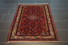 Old Persian carpet, Malayer Hamadan, 105 x 150 cm, natural colours, made in Iran