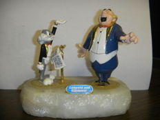 Bugs Bunny 'Leopald And Giovanni' - Limited Edition - Onyx Statue By Ron Lee - (1992)