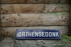 old street sign 'Orthensedonk' - 1960