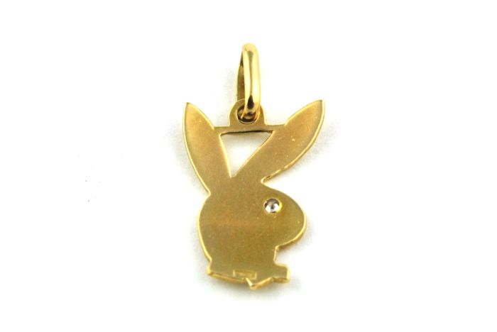 Playboy bunny pendant piece with diamond 003ct fgvs set on playboy bunny pendant piece with diamond 003ct fgvs set on 18k yellow gold size 22mm x 12mm aloadofball Image collections