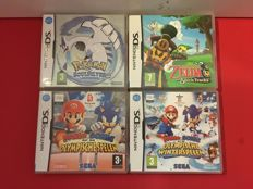 Nintendo DS - 4 topgames, with for example Pokémon & Zelda