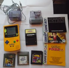 Pokémon Gameboy Color edition with 4 games like Pokemon pinball