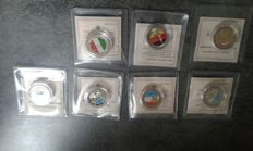 Europe – 2 Euro commemorative colours (7 coins)