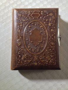 Beautiful leather photo album, early 20th century