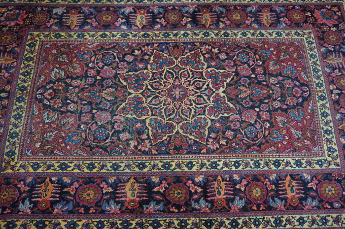 Old exclusive hand-knotted Persian palace carpet, old Kirman Kerman Persian carpet, 160 x 265 cm, Tapis Tappeto carpet