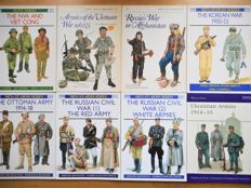 Militaria; Men-at-Arms & Elite Series - 8 volumes - 1982/2004