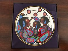 Norval Morrisseau - Three plates / Children of mother earth - Winter / Spring / Autumn