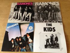 "Punk : Lot of 4 Lp's - Ramones ( 3 )-""The Ramones"" / ""Rocket To Russia""/""Leave Home"" / The Kids ( 1 ) - "" The Kids"""