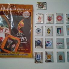Panini - Women's Euro 2017 - Complete set with album and covers.