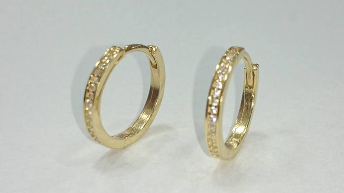 Gold 14 kt - Creole-style earrings