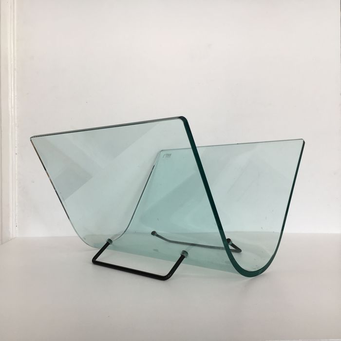 Fiam Italy - glass magazine rack