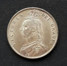 "Great Britain - half Crown - 1887 - Queen Victoria ""Jubilee Head"" - silver"