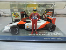 Minichamps - Scale 1/43 - McLaren Honda MP4/6 Brazil 1st GP Win 24th March 1991 Ayrton Senna Collection - Limited Edition 1991 pcs
