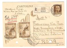 Italy, RSI – 1943/1944 – Lot of two letters from the period