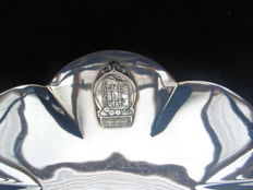 Lot 5 silver plated objects - commemoration Foundation 1940-1945 - original logo