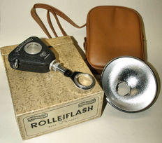 Rollei flash with bag and original box