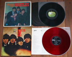 The Beatles- Great lot of 2 Japanese pressings: Please Please Me (1st on Apple (after Odeon release), w. alternate gatefold cover & bound-in 8-page booklet) & Beatles For Sale (1st Odeon release on RED wax!)