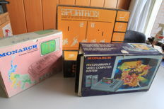 4 retro consoles 2 Monarch Videogames and 2 Sportron Videogames - Boxed