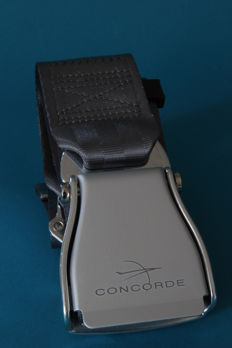 Concorde safety belt signed PUTMAN ANDREE