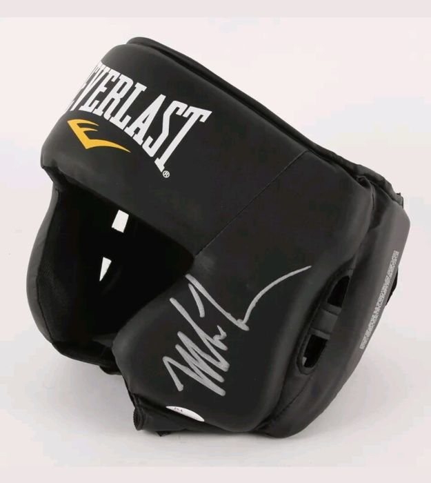 Everlast boxing headgear hand-signed by Mike Tyson