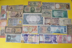 World - lot of 66 banknotes - Europe, Russia, Asia, Africa