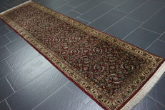 Fine hand-knotted oriental carpet, Indo Bidjar Herati, runner, 80 x 300 cm, made in India at the end of the 20th century
