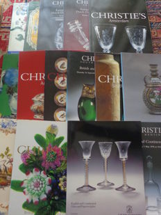 Fifteen glass-related Christie's Amsterdam and London catalogues