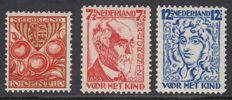 Netherlands 1926/1928 – Perforation and watermark varieties – NVPH 201a, 222B and 223B