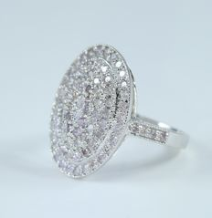 White Gold Pink Diamond Ring - 1.96 ct. - Ring size – 17 NL and 54 French - no reserve price