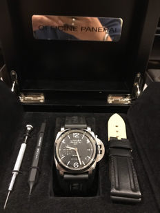 Officine Panerai - panerai pam233 gmt 8days L series - BB1346324 - 男士 - 2011至今
