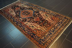 Old Persian carpet, Malayer Hamadan, 130 x 270 cm, natural colours, made in Iran