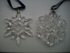 Swarovski - Christmas Ornament 1998 and 1999.