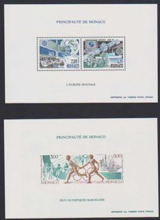 Monaco 1991 - Europe and J.O Barcelona - Special blocks no. 14 and 16a