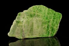 Partly Gemmy green Chromian Diopside polished specimen - 8,0 x 4,6 x 1,0 cm - 63gm