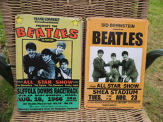 "Two Stunning Metal Beatles  Memorial Signs - All Star Show 1966 - And Beatles Concert "" the beatles Live In Person """
